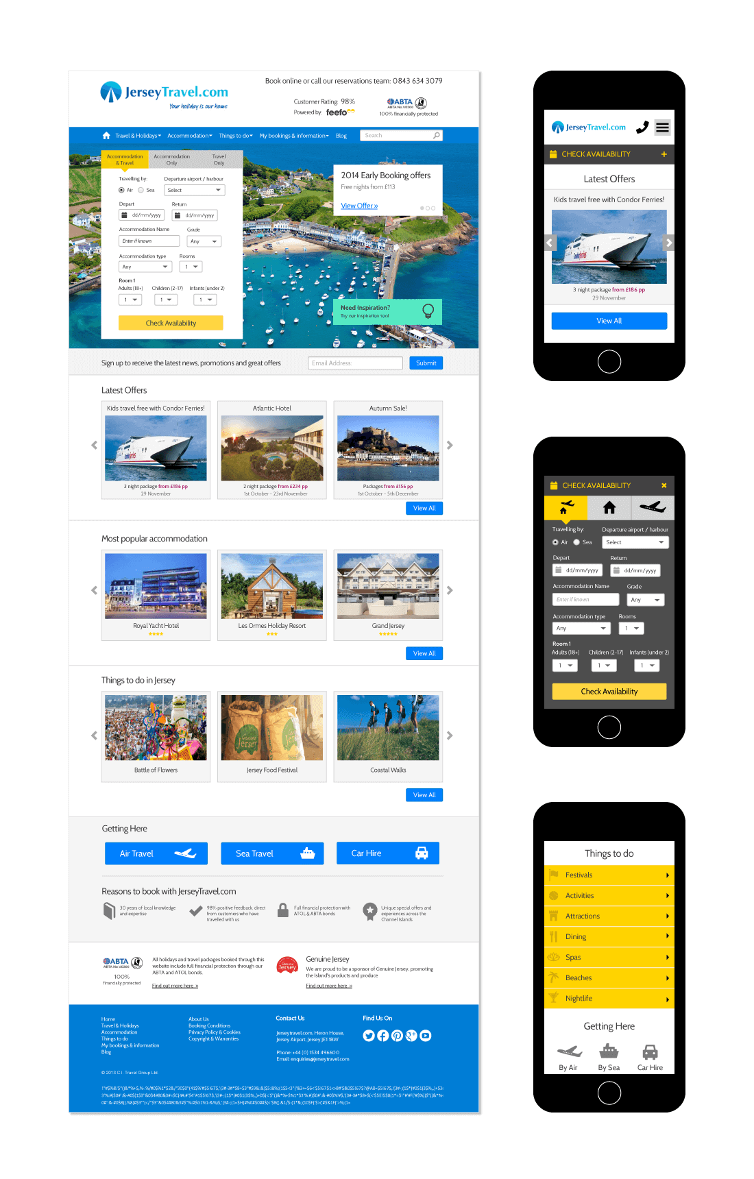 CI Travel Web Design